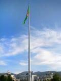 Turkmenistan - Ashgabat, Nationaal vlagmonument Stock Foto