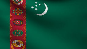 Turkmenistan flag stock video footage