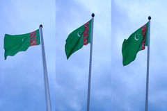 Turkmenistan Flag Royalty Free Stock Photo