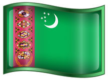 Turkmenistan Flag icon Stock Photo
