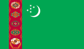 Turkmenistan flag image. For any design in simple style Royalty Free Stock Photos