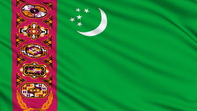 Turkmenistan Flag. stock footage