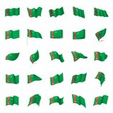 Turkmenistan flag, vector illustration Royalty Free Stock Photo
