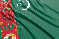 Turkmenistan flag Royalty Free Stock Image