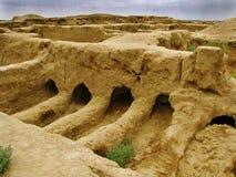 Turkmenistan-- GONUR-Depe Site, Auslesebeerdigungsplatz Stockbild