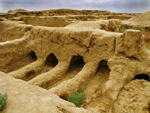 Turkmenistan - GONUR-Depe site, elite burial place. Elite burial place at GONUR Depe.  ruins of very ancient city of Gonur-depe, discovered by victor sarianidi's Stock Image