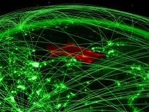 Turkmenistan on green globe stock illustration