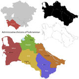 Turkmenistan kaart Royalty-vrije Stock Fotografie