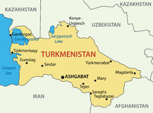 Turkmenistan - map of a country Stock Photos