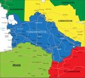 Turkmenistan mapa Obraz Royalty Free