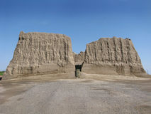 Turkmenistan - Merv, Big Kyz Kala fortress. Turkmenistan sightseeings - ancient Merv historical sites - Big Kyz-Kala fortress. Merv area is one of the main