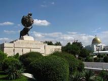 Turkmenistan - Monumenten en gebouwen van Ashgabat stock foto
