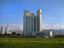 Turkmenistan - Monuments and buildings of Ashgabat. White palaces of Ashgabat capital Stock Image