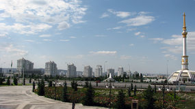 Turkmenistan - Monuments and buildings of Ashgabat Stock Photo