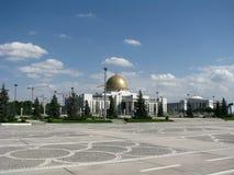 Turkmenistan - Monuments and buildings of Ashgabat. White palaces of Ashgabat capital Royalty Free Stock Photography