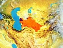 Turkmenistan na ziemi od przestrzeni ilustracji