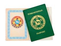 Turkmenistan paspoort Stock Foto