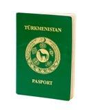 Turkmenistan paspoort over wit Royalty-vrije Stock Foto's
