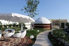 Turkmenistan paviljoen Milaan, Milaan Expo 2015 Stock Afbeeldingen