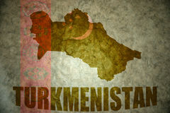 Turkmenistan vintage map Royalty Free Stock Photos