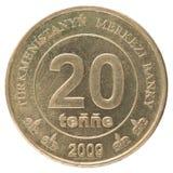 Turkmenistani-Münze Lizenzfreies Stockfoto