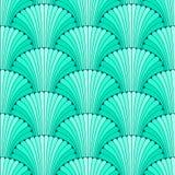 Turkoois abstract shell naadloos patroon Royalty-vrije Stock Afbeeldingen