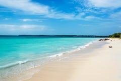 Turkoois Caraïbisch Water stock afbeelding
