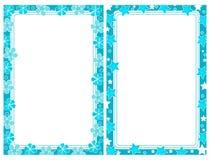 Turkoois frame twee Royalty-vrije Stock Afbeelding