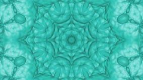Turkoois geanimeerde patronen Abstracte caleidoscoop 3d geef terug vector illustratie