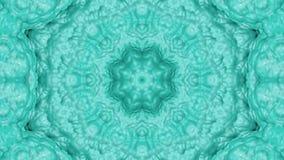 Turkoois geanimeerde patronen Abstracte caleidoscoop 3d geef terug royalty-vrije illustratie
