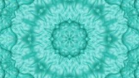 Turkoois geanimeerde patronen Abstracte caleidoscoop 3d geef terug stock illustratie