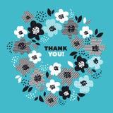 Turkoois kleuren abstract bloemenpatroon Royalty-vrije Stock Afbeelding