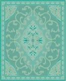 Turkoois malplaatje voor tapijt stock illustratie