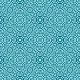 Turkoois naadloos ornament Royalty-vrije Illustratie