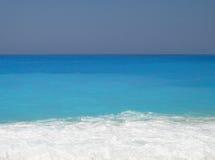 Turkoois strand royalty-vrije stock afbeelding