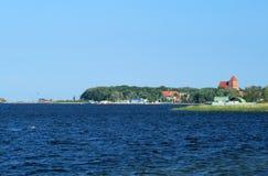 Turkoois water bij de Oostzee, Polen royalty-vrije stock fotografie