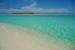 Turkoois water van Stille Zuidzee. Stock Afbeelding