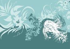 Turkooise abstracte achtergrond royalty-vrije illustratie