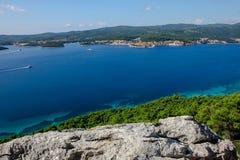 Turkooise Adriatische Overzees Stock Afbeeldingen
