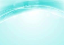 Turkooise blauwe abstracte vlotte golvende achtergrond Stock Foto's