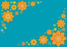 Turkooise bloemachtergrond Royalty-vrije Stock Afbeelding
