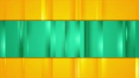 Turkooise en oranje het gloeien strepen videoanimatie vector illustratie