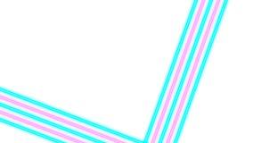 Turkooise en roze neonlichten met veel exemplaarruimte voor tekst of productvertoning royalty-vrije stock afbeelding