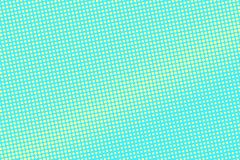 Turkooise gele gestippelde halftone Diagonale frequente gestippelde gradiënt vector illustratie