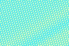 Turkooise gele gestippelde halftone Diagonale grote maat gestippelde gradiënt stock illustratie