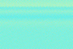 Turkooise gele gestippelde halftone Horizontale langzaam verdwenen gestippelde gradiënt royalty-vrije illustratie