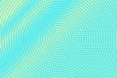 Turkooise gele gestippelde halftone Radiale grunge gestippelde gradiënt stock illustratie