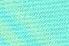 Turkooise gele gestippelde halftone Regelmatige subtiele gestippelde gradiënt vector illustratie