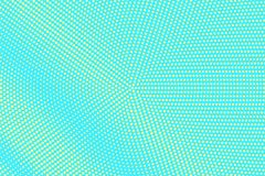 Turkooise gele gestippelde halftone Subtiele radiale gestippelde gradiënt Halftintachtergrond royalty-vrije illustratie