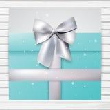 Turkooise giftkaart Stock Afbeelding